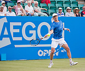 June 14th 2017, Nottingham, England; ATP Aegon Nottingham Open Tennis Tournament day 5; Marc Polmans of Australia in action on centre court