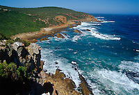 A view over the wild and dramatic cliffs of Robberg and Plettenberg Bay