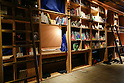 The Book and Bed designer hostel in Ikebukuro on February 5, 2016 in Tokyo, Japan. This new Tokyo hostel was designed on the concept of staying overnight in a bookstore. It includes 30 bed compartments tucked into a wall of bookshelves and a communal reading space. Sleeping compartments cost from JPY 3,000 - JPY 4,000 per night (approx. US$ 30-40) and the hostel managers want to promote the idea of dozing off comfortably whilst reading a book. The new hostel next to Ikebukuro JR rail station has an English homepage and could be a good solution for visiting backpackers. (Photo by Martin Hladik/AFLO)