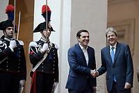 Gentiloni riceve il Primo Ministro greco Tsipras