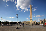 Obelisk in Concorde Square Place de la Concorde. Paris. France