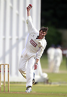 James Williams bowls for South Hampstead during the Middlesex County Cricket League Division Three game between Highgate and South Hampstead at Park Road, Crouch End on Sat Aug 2, 2014