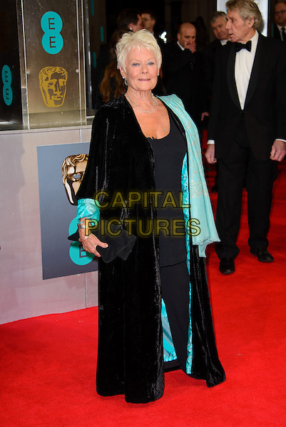 LONDON, ENGLAND - FEBRUARY 16: Dame Judi Dench  attends EE British Academy Film Awards in 2014  at the Royal Opera House on February 16, 2014 in London, England.<br /> CAP/CJ<br /> &copy;Chris Joseph/Capital Pictures