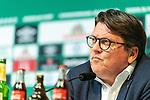 10.07.2020, PK-Raum in der Ostkurve des wohninvest Weserstadions , Bremen, GER, Pressekonferenz der Geschäftsführung Werder Bremen<br /> Zum Abschluss der Saison 2019/2020 lud der SV Werder Bremen  zur PK ein - Thema: Ergebnisse der Gespräche zur Aufarbeitung der zurückliegenden Bundesligasaison<br /> <br /> im Bild / picture shows <br /> <br /> <br /> Dr. Hubertus Hess-Grunewald (Geschäftsführer Organisation & Sport SV Werder Bremen)<br /> <br /> Foto © nordphoto / Kokenge