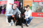 "Robbie daly and Pamela Butterly with Neo enjoying ""National Dog Walking Day"" at Petmania...(Photo credit should read Jenny Matthews www.newsfile.ie)....This Picture has been sent you under the conditions enclosed by:.Newsfile Ltd..The Studio,.Millmount Abbey,.Drogheda,.Co Meath..Ireland..Tel: +353(0)41-9871240.Fax: +353(0)41-9871260.GSM: +353(0)86-2500958.email: pictures@newsfile.ie.www.newsfile.ie."