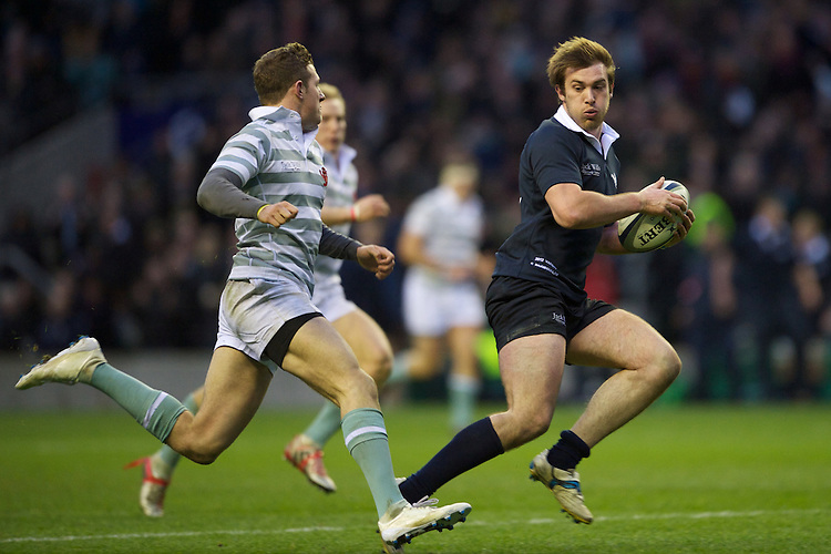 Cassian Bramham-Law of Oxford University (right) in action against William Smith of Cambridge University during the 131st Varsity Match between Oxford University and Cambridge University at Twickenham on Thursday 06 December 2012 (Photo by Rob Munro)