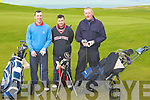 WILD DAY: A wild day for golf at Tralee Golf Club,Barrow, on Sunday Edward and Yves Deniels and Mike Galvin...
