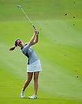 CHON BURI, THAILAND - FEBRUARY 17:  Sandra Gal of Germany plays a shoot on the 17th hole during day two of the LPGA Thailand at Siam Country Club on February 17, 2012 in Chon Buri, Thailand.  Photo by Victor Fraile / The Power of Sport Images