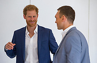 Picture by Paul Currie/SWpix.com - 04/09/2017 - Rugby League - Prince Harry Visits the Rugby  League - Manchester City Football Academy, Manchester, England - Prince Harry talks to Kevin Sinfield
