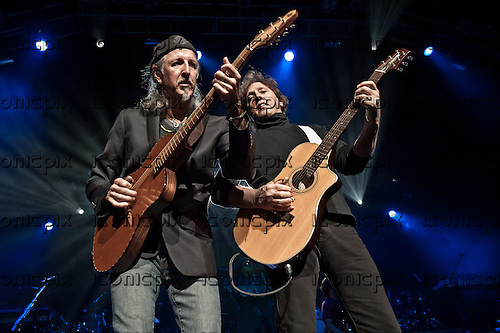 THE DOOBIE BROTHERS - guitarists and vocalists Patrick Simmons and John McFee performing live at The Gibson Amphitheatre in Universal City, CA USA - July 15, 2012.  Photo: © Kevin Estrada / Iconicpix