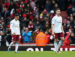 Aston Villa's Ciaren Clark looks on dejected at the final whistle<br /> <br /> Barclays Premier League - Arsenal vs Aston Villa - Emirates Stadium  - England - 1st February 2015 - Picture David Klein/Sportimage