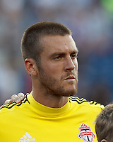 Toronto FC goalkeeper Milos Kocic (30). In a Major League Soccer (MLS) match, Toronto FC defeated New England Revolution, 1-0, at Gillette Stadium on July 14, 2012.