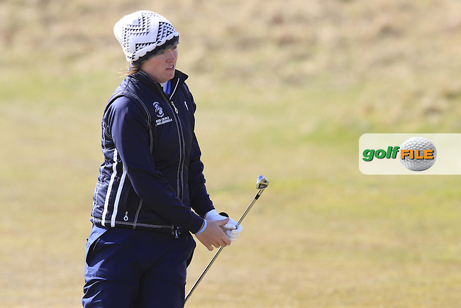 Chloe Ryan (Castletroy) on the 15th during the final round of the Irish woman's Open stroke play championship, The Island Golf Club, Donate, Co Dublin. 10/04/2016.<br /> Picture: Golffile | Fran Caffrey<br /> <br /> <br /> All photo usage must carry mandatory copyright credit (&copy; Golffile | Fran Caffrey)