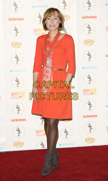 Sian Williams<br /> attended the Women of the Year Lunch &amp; Awards 2013, InterContinental Hotel, Park Lane, London, England.<br /> October 14th, 2013<br /> full length orange dress scarf brown boots <br /> CAP/CAN<br /> &copy;Can Nguyen/Capital Pictures