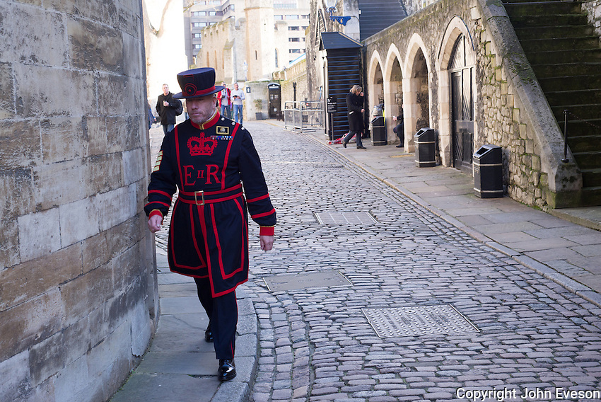 Beefeater at the Tower of London.