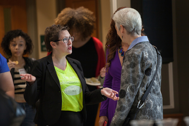 Dr. M. Geneva Murray, director of the Ohio Women's Center, at the OhioWomen Open House, outside of the Women's Center in Baker Center, on Thursday, November 19, 2015. Photo by Kaitlin Owens