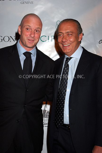 WWW.ACEPIXS.COM . . . . . ....NEW YORK, MARCH 15, 2005....Guiseppe Cipriani and Fawaz Gruosi at the kick off of the 2005 Cipriani Wall Street Concert Series with Rod Stewart performing at Cipriani Wall Street.....Please byline: KRISTIN CALLAHAN - ACE PICTURES.. . . . . . ..Ace Pictures, Inc:  ..Philip Vaughan (646) 769-0430..e-mail: info@acepixs.com..web: http://www.acepixs.com