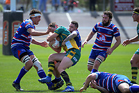 Action from the 2018 Heartland Championship Lochore Cup rugby semifinal between Horowhenua Kapiti and Mid-Canterbury at Levin Domain in Levin, New Zealand on Saturday, 20 October 2018. Photo: Dave Lintott / lintottphoto.co.nz