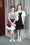 Ciara Leonard and Siobhan McAllister at the Confirmation in St.Mary's Church...Photo NEWSFILE/Jenny Matthews.(Photo credit should read Jenny Matthews/NEWSFILE)....This Picture has been sent you under the condtions enclosed by:.Newsfile Ltd..The Studio,.Millmount Abbey,.Drogheda,.Co Meath..Ireland..Tel: +353(0)41-9871240.Fax: +353(0)41-9871260.GSM: +353(0)86-2500958.email: pictures@newsfile.ie.www.newsfile.ie.FTP: 193.120.102.198.