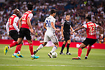 Real Madrid's player Asensio and Stade de Reims's player Da Cruz, Rodriguez and Jeanvier during the XXXVII Santiago Bernabeu Trophy in Madrid. August 16, Spain. 2016. (ALTERPHOTOS/BorjaB.Hojas)