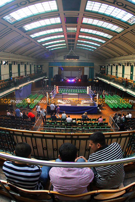 General view of York Hall, Bethnal Green, prior to a Boxing Show promoted by Hard Knocks / Spencer Fearon - 04/06/10 - MANDATORY CREDIT: Gavin Ellis/TGSPHOTO - Self billing applies where appropriate - Tel: 0845 094 6026