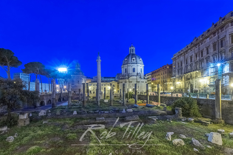 Europe, Italy, Rome, The Forum at Dawn