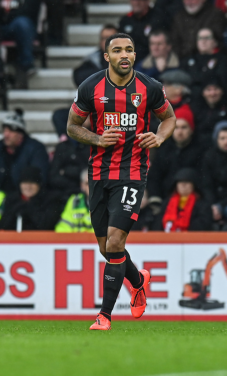Bournemouth's Callum Wilson <br /> <br /> Photographer David Horton/CameraSport<br /> <br /> The Premier League - Bournemouth v West Ham United - Saturday 19 January 2019 - Vitality Stadium - Bournemouth<br /> <br /> World Copyright &copy; 2019 CameraSport. All rights reserved. 43 Linden Ave. Countesthorpe. Leicester. England. LE8 5PG - Tel: +44 (0) 116 277 4147 - admin@camerasport.com - www.camerasport.com