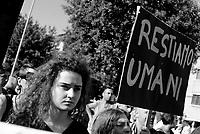 Roma, 13 Maggio 2017<br /> Restiamo umani!<br /> Corteo a Centocelle per Francesca, Angelica e Elisabeth, le tre sorelle Rom uccise nel rogo del camper dove vivevano