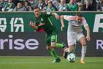 15.04.2018, Weser Stadion, Bremen, GER, 1.FBL, Werder Bremen vs RB Leibzig, im Bild<br /> <br /> Max Kruse (Werder Bremen #10)<br /> Stefan Ilsanker (RB Leipzig #13)2<br /> <br /> Foto &copy; nordphoto / Kokenge