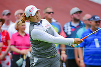 Ariya Jutanugarn (THA) watches her tee shot on 10 during Friday's round 2 of the 2017 KPMG Women's PGA Championship, at Olympia Fields Country Club, Olympia Fields, Illinois. 6/30/2017.<br /> Picture: Golffile | Ken Murray<br /> <br /> <br /> All photo usage must carry mandatory copyright credit (&copy; Golffile | Ken Murray)
