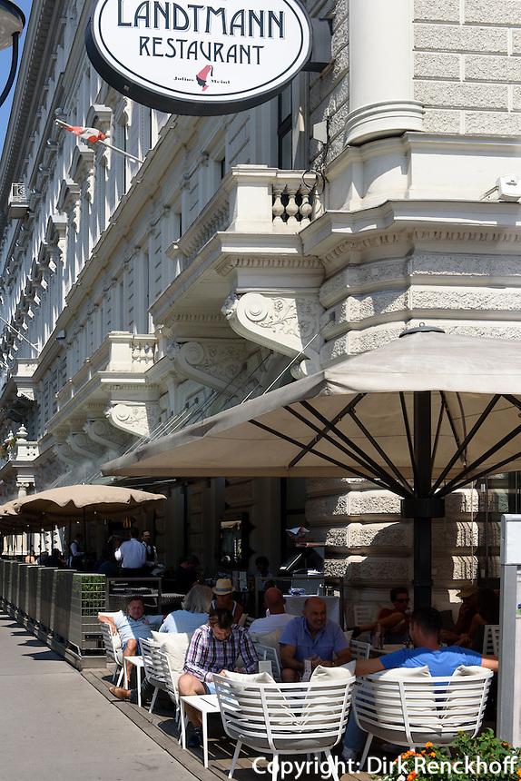 Caf&eacute; Landtmann beim Burgtheater, Wien, &Ouml;sterreich, UNESCO-Weltkulturerbe<br /> Caf&egrave; Landtmann near Burgtheater, Vienna, Austria, world heritage
