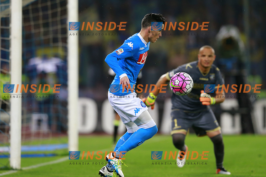 Jose Maria Callejon Napoli, Massimo Zappino Frosinone,  <br /> Napoli 14-05-2016 Stadio San Paolo<br /> Football Calcio Serie A 2015/2016 Napoli - Frosinone<br /> Foto Cesare Purini / Insidefoto