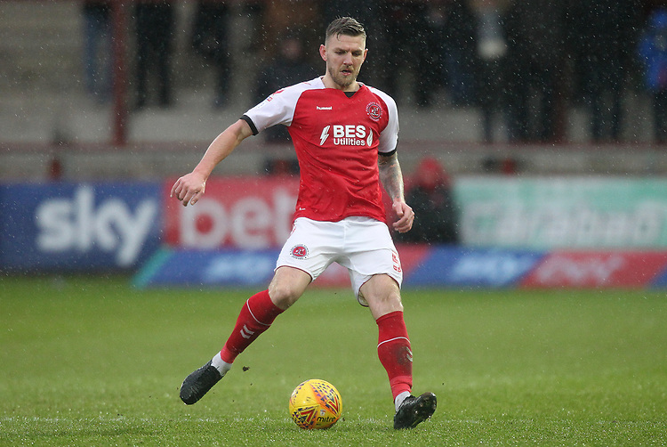 Fleetwood Town's Ashley Eastham<br /> <br /> Photographer Mick Walker/CameraSport<br /> <br /> The EFL Sky Bet League One - Fleetwood Town v Scunthorpe United - Saturday 26th January 2019 - Highbury Stadium - Fleetwood<br /> <br /> World Copyright © 2019 CameraSport. All rights reserved. 43 Linden Ave. Countesthorpe. Leicester. England. LE8 5PG - Tel: +44 (0) 116 277 4147 - admin@camerasport.com - www.camerasport.com