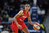 Washington, DC - August 25, 2019: Washington Mystics guard Natasha Cloud (9) runs the offense during second half action of game between the New York Liberty and the Washington Mystics at the Entertainment and Sports Arena in Washington, DC. The Mystics defeated New York 101-72. (Photo by Phil Peters/Media Images International)