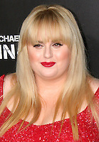 """Rebel Wilson.  Celebrities gathered at The TCL Chinese Theatre in Hollywood to attend the Los Angeles premiere of Paramount Picture's  PAIN & GAIN on April 22, 2013.<br /> Cast members and filmmakers attending include: Mark Wahlberg (Daniel Lugo), Dwayne Johnson (Paul Doyle), Michael Bay (Director), Anthony Mackie (Adrian Doorbal), Rebel Wilson (Robin Peck), Ed Harris (Ed Du Bois), Tony Shalhoub (Victor Kershaw), Rob Corddry (John Mese), Ken Jeong (Jonny Wu), Bar Paly (Sorina Luminita), Christopher Markus (Screenwriter), Stephen McFeely (Screenwriter), Donald DeLine (Producer)<br /> ABOUT PAIN & GAIN: <br /> From acclaimed director Michael Bay comes """"Pain & Gain,"""" a new action comedy starring Mark Wahlberg, Dwayne Johnson and Anthony Mackie. Based on the unbelievable true story of a group of personal trainers in 1990s Miami who, in pursuit of the American Dream, get caught up in a criminal enterprise that goes horribly wrong. Release Date:  April 26, 2013. Photo by Hilda Lazarte/ Unimedia/ DyD Fotografos"""