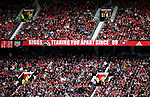 Banners in Old Trafford during the English Premier League match at the Old Trafford Stadium, Manchester. Picture date: May 21st 2017. Pic credit should read: Simon Bellis/Sportimage