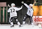 ***BETALBILD***  <br /> Stockholm 2015-11-18 Bandy Elitserien Hammarby IF - Sandvikens AIK :  <br /> Sandvikens Patrik Nilsson firar sitt 4-4m&aring;l med Dennis Henriksen under matchen mellan Hammarby IF och Sandvikens AIK <br /> (Foto: Kenta J&ouml;nsson) Nyckelord:  Elitserien Bandy Zinkensdamms IP Zinkensdamm Zinken Hammarby Bajen HIF Sandviken SAIK jubel gl&auml;dje lycka glad happy