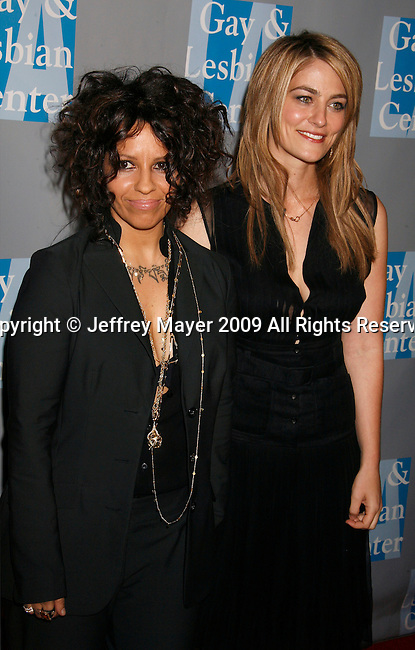 BEVERLY HILLS, CA. - April 24: Linda Perry and Clementine Ford arrive at An Evening With Women: Celebrating Art, Music, & Equality at The Beverly Hilton Hotel on April 24, 2009 in Beverly Hills, California.