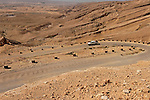 Israel, the Negev. Akrabim ascent overlooking Zin valley