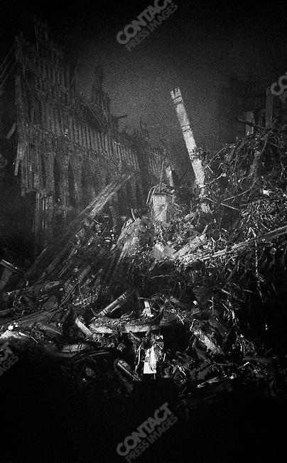 World Trade Center Human Remains Ground Zero in the nig...