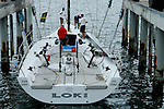 The 63 feet Loki at Woolwich Dock, Sydney..McConaghy Boats in Mona Vale, Australia built the new Reichel-Pugh 63 Loki For Stephen Ainsworth.