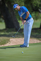 Sergio Garcia (ESP) watches his putt on 8 during Round 1 of the Valero Texas Open, AT&amp;T Oaks Course, TPC San Antonio, San Antonio, Texas, USA. 4/19/2018.<br /> Picture: Golffile | Ken Murray<br /> <br /> <br /> All photo usage must carry mandatory copyright credit (&copy; Golffile | Ken Murray)
