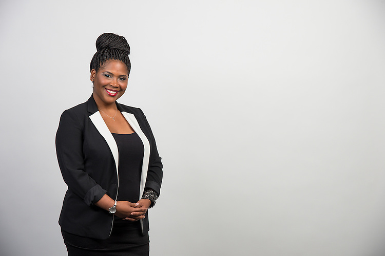 Mokysha Benford poses for a photograph, July 22, 2014.