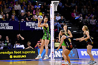Pulse&rsquo; Karin Burger in action during the ANZ Premiership - Pulse v Magic at TSB Bank Arena, Wellington, New Zealand on Sunday 21 April 2019. <br /> Photo by Masanori Udagawa. <br /> www.photowellington.photoshelter.com