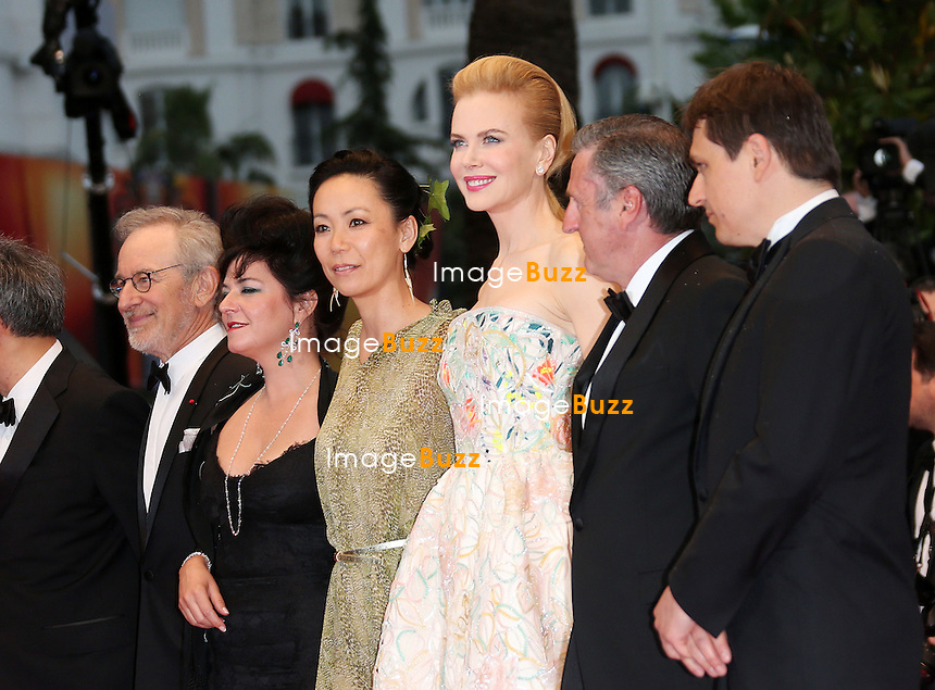 CPE/Jury members attend the Opening Ceremony and 'The Great Gatsby' Premiere during the 66th Annual Cannes Film Festival at the Theatre Lumiere on May 15, 2013 in Cannes, France. .Pictured : President of Jury, director Steven Spielberg and Jury members Daniel Auteuil, Ang Lee, Christoph Waltz, Nicole Kidman, Vidya Balan and Naomi Kawase.