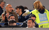 Calcio, Serie A:  Roma vs Palermo. Roma, stadio Olimpico, 21 febbraio 2016. <br /> Roma&rsquo;s Francesco Totti sits on the stand for the Italian Serie A football match between Roma and Palermo at Rome's Olympic stadium, 21 February 2016.<br /> UPDATE IMAGES PRESS/Riccardo De Luca