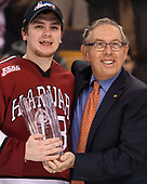 Nathan Krusko (Harvard - 13), Steve Nazro - The Harvard University Crimson defeated the Boston University Terriers 6-3 (EN) to win the 2017 Beanpot on Monday, February 13, 2017, at TD Garden in Boston, Massachusetts.