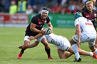 Schalk Brits of Saracens in possession. Pre-season friendly match, between Bedford Blues and Saracens on August 19, 2017 at Goldington Road in Bedford, England. Photo by: Patrick Khachfe / Onside Images