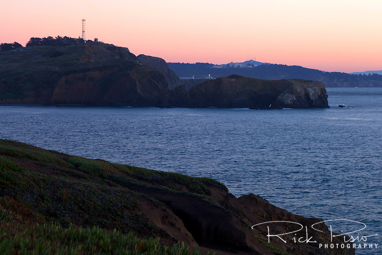 Point Bonita Lighthouse and the Marin Headlands lie within the Golden Gate National Recreation Area.