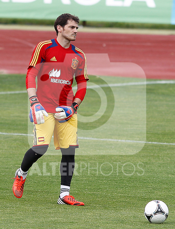 Spanish national football team Iker Casillas during training session.June 1,2012.(ALTERPHOTOS/Acero)